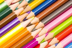 Color pencils close up Royalty Free Stock Images