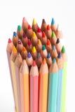 Color pencils close up Stock Images