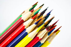 Color pencils, close up Royalty Free Stock Photos