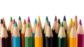 Color pencils. Close up of color pencils Royalty Free Stock Photo