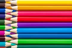 Color pencils close-up, background, layout stock photo