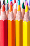 Color pencils. Close up. Royalty Free Stock Photos