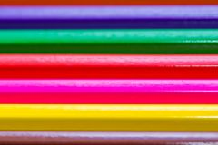 Color pencils close up macro shot for background. Space for text stock photo