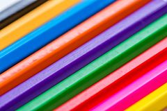 Color pencils close up macro shot for background,. Space for text royalty free stock photography