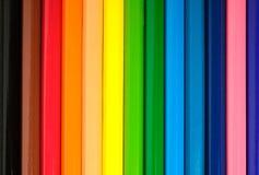Color pencils. Close up multi color pencils background Stock Photo