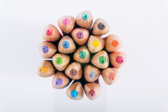 COLOR PENCILS CLOSE-UP Stock Photo