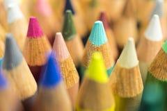 Color pencils, close up. Selective focus Royalty Free Stock Photos