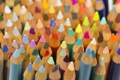 Color pencils close up shot Royalty Free Stock Image