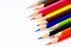 Color pencils closeup. The closeup of color pencils stock photo