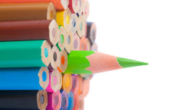 Color pencils - closeup, macro shot Stock Images