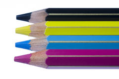 Color pencils cmyk Stock Photo
