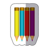 Color pencils color icon. Illustraction design image Royalty Free Stock Photography