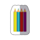 Color pencils color icon. Illustraction design image Royalty Free Stock Photos