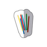 Color pencils color icon. Illustraction design image Stock Images