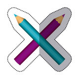 Color pencils color icon. Illustraction design image Royalty Free Stock Images