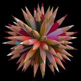 80 Color Pencils Stock Photo