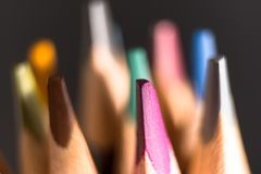 Color Pencils. Colored Pencils Background . Crayons Close Up stock photo