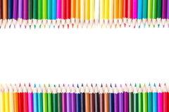 Color pencils with copy space for text Royalty Free Stock Photo