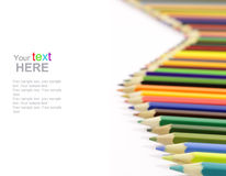 Color Pencils with copyspace Stock Image
