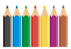 Color pencils crayon Royalty Free Stock Image