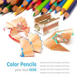Color pencils (crayon) isolated on white background Royalty Free Stock Photos