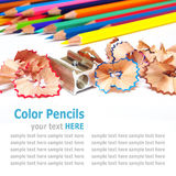 Color pencils (crayon) isolated on white background Royalty Free Stock Photo