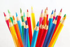 Color pencils for creativity on a white background Royalty Free Stock Photo