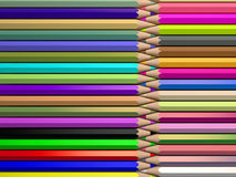 Color pencils, 3d rendering Stock Photo