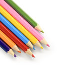 Color pencils diagonal royalty free stock photo