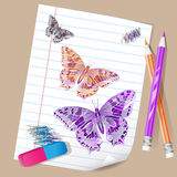 Color pencils and drawing Royalty Free Stock Image