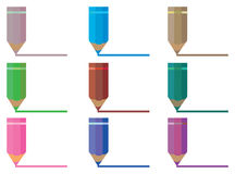 Color Pencils Drawing Line Vector Illustration Stock Images