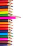 Color pencils for drawing on a white background Royalty Free Stock Photography