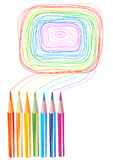 Color pencils drawings Stock Photography