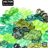 Color pencils drawings background vector Royalty Free Stock Photos