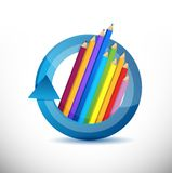 Color pencils education concept Royalty Free Stock Image