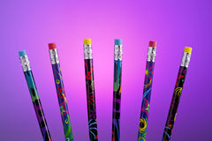 Color pencils fanned out. Royalty Free Stock Photos