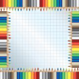 Color pencils frame. Background with color pencils frame Stock Image