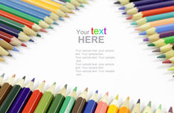 Color Pencils frame Royalty Free Stock Photos