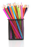 Color pencils in glass Royalty Free Stock Photos