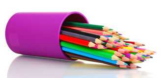 Color pencils in glass Stock Photography