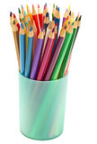 Color pencils in a glass Stock Image
