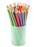 Color pencils in a glass Royalty Free Stock Image