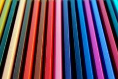 Color pencils gradient vertical texture Royalty Free Stock Photo