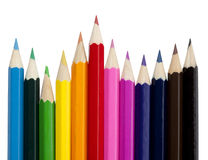 Color pencils isolated Stock Photography