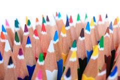 Color pencils isolated Stock Image
