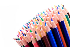 Color pencils isolated Royalty Free Stock Photo