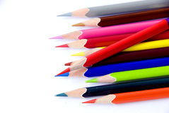 Color pencils. The isolated of color pencils royalty free stock image