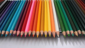 Color pencils isolated Royalty Free Stock Images