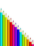 Color pencils isolated over white Royalty Free Stock Images