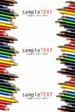 Color pencils isolated on white Stock Photography